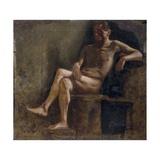 Painting Study for a Male Nude Reproduction giclée Premium par Demetrio Cosola