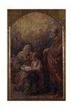 Holy Family (Mary Teaching Jesus to Read) Art par Demetrio Cosola
