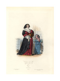 Town Costumes, Woman and Child, Reign of Louis XIII, 1633 Giclee Print