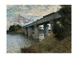 Railway Bridge in Argenteuil Plakater af Claude Monet