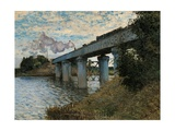 Railway Bridge in Argenteuil Giclee Print by Claude Monet
