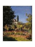 Garden in Sainte-Adresse Posters by Claude Monet