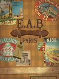 Vintage Luggage II Giclee Print