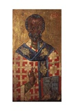 Saint Nicholas, Blessing and Holding Gospels Icon Prints
