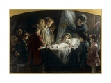 Children Visiting the Dead Little Girl Art par Demetrio Cosola