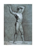 Drawing of a Male Nude Prints by Alessandro Scarrozza