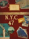 Vintage Luggage I Giclee Print