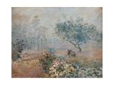 Fog at Voisins Poster von Alfred Sisley