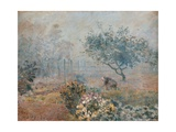 Fog at Voisins Posters by Alfred Sisley