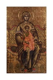 Mother of God Enthroned Poster by Kostantin Jeromonaku