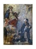 Study for Saint Luis and Virgin Mary Reproduction giclée Premium par Demetrio Cosola