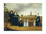 Family in a Landscape in Rhenen Poster by Cornelis Willaerts