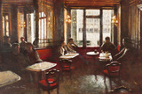 Cafe Florian, Venice Giclee Print by Clive McCartney