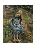 Shepherdess (Girl with a Stick) Affiches par Camille Pissarro