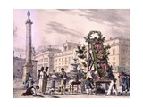 Sellers of Cucumbers in Colonna Square, Rome Giclee Print by Antoine Jean-Baptiste Thomas