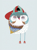 Baby Owl Dude Giclee Print by Ashley Percival