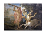 Mythological Scene, Hercules Fighting the Centaur Nessus Saving Deianira Print
