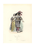 French Costumes, Reign of Louis XIII, 1633 Giclee Print