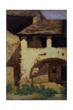 Maison de campagne Poster par Demetrio Cosola