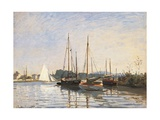 Pleasure Boats at Argenteuil Giclee Print by Claude Monet