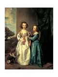 Sisters Elizabeth and Philadelphia Wharton Kunstdruck von Sir Anthony Van Dyck