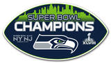 Super Bowl XLVIII Champion Seattle Seahawks Vinyl Magnet Magnet
