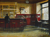 Afternoon in Cafe Central, Madrid Giclee Print by Clive McCartney
