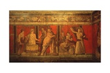 Scenes of Rituals of Cult of Dionysus, Villa of the Mysteries, Pompei, C. 60 AD Art