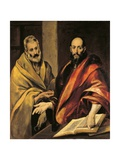 Saints Peter and Paul Giclee Print by El Greco