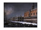 Venice with St. Mark's Pier under the Snow Giclee Print by Giuseppe Borsato