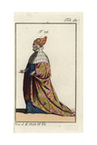 Doge of Venice in Official Robes Giclee Print