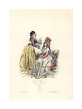 Parisian Women's Fashions, Reign of Louis XVI, 1790 Giclee Print