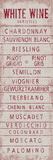 Wine Varieties IV Giclee Print