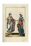 An Elegant Jewish Woman and Young Jewish Girl Giclee Print