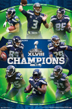 Seattle Seahawks Super Bowl XLVIII Champion Posters