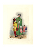 Lady and Pageboy of the Reign of Henry IV, 1411-1422 Giclee Print by Charles Martin