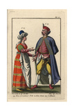 Nobleman of Poland and a Woman of Lithuania Giclee Print