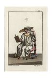A Woman of Venice Dying Her Hair Using a GsolanaH Giclee Print