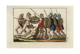 Greeks in Battle with Attack and Defence Weapons Giclee Print