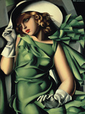 Young Lady with Gloves Giclée-Druck von Tamara de Lempicka