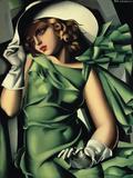 Tamara de Lempicka - Young Lady with Gloves - Giclee Baskı
