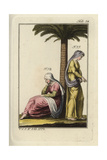 Two Jewish Women under a Palm Tree Giclee Print