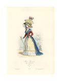 Parisian Women's Fashion, Reign of Louis XVI, 1787 Giclee Print