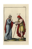 Creon, King of Corinth, in Greek Regal Costume with Diadem King Agamemnon Giclee Print