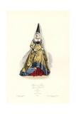 Paris Fashions, Reign of Charles VII, after Gaignieres, 1450 Giclee Print