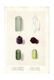 Crystals of Aquamarine, Quartz, Amethyst, Garnet, Tourmaline and Peridot Giclee Print