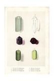 Crystals of Aquamarine, Quartz, Amethyst, Garnet, Tourmaline and Peridot Giclee Print