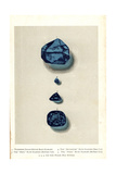 Blue Diamonds- Tavernier Indian, Brunswick, Hope, and Pirie Giclee Print