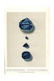 Blue Diamonds- Tavernier Indian, Brunswick, Hope, and Pirie Giclee Print