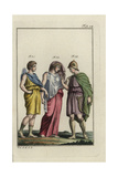 Zethus with Lyre, Amphion in Greek Shoes, and a Greek Woman Giclee Print